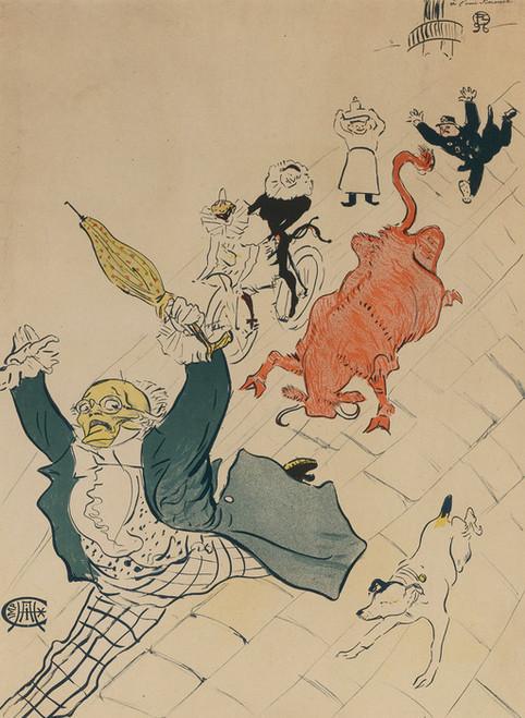 Art Prints of The Mad Cow by Henri de Toulouse-Lautrec