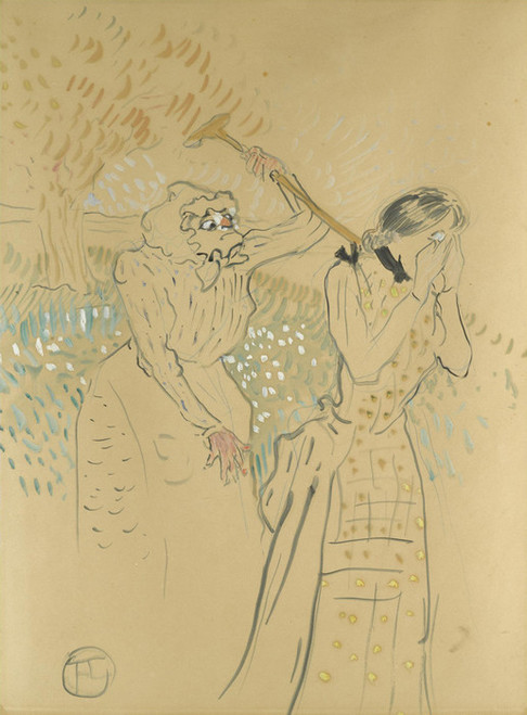 Art Prints of Two Legendary Sisters II by Henri de Toulouse-Lautrec