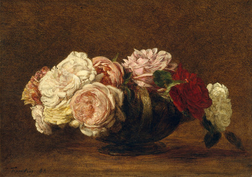 Art Prints of Roses in a Bowl by Henri Fantin-Latour