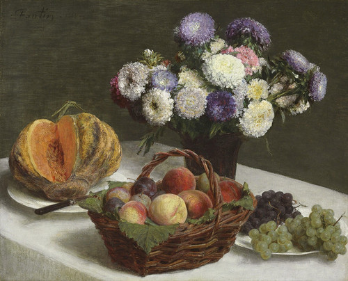 Art Prints of Fruit and Flowers, Asters by Henri Fantin-Latour