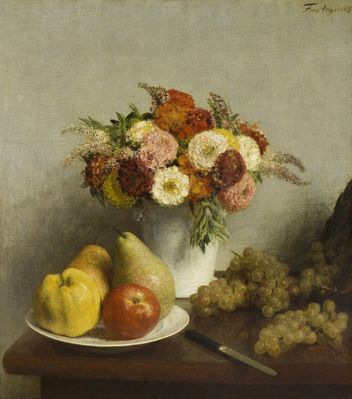 Art Prints of Flowers and Fruit III by Henri Fantin-Latour