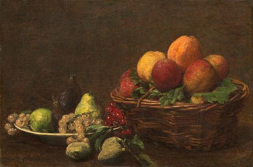 Art Prints of Still Life with Fruit by Henri Fantin-Latour