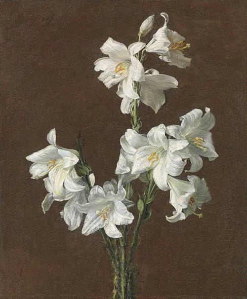Art Prints of White Lilies by Henri Fantin-Latour