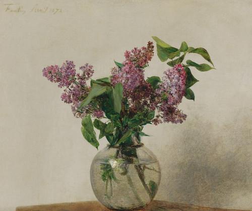 Art Prints of Lilacs by Henri Fantin-Latour