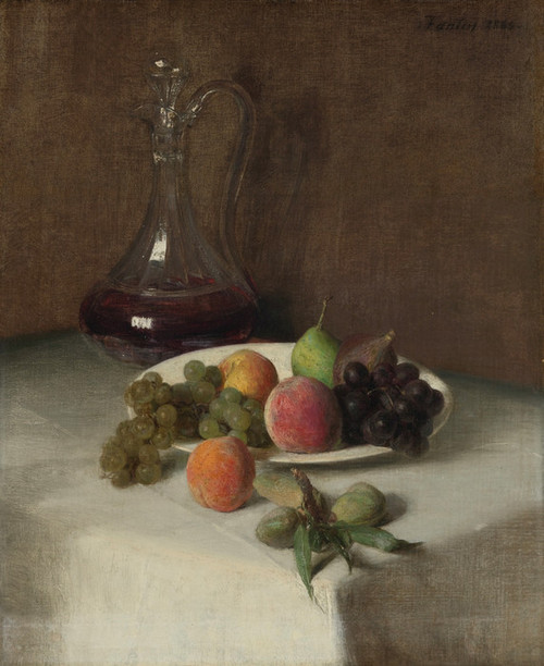 Art Prints of Still Life with Creut and Fruit by Henri Fantin-Latour