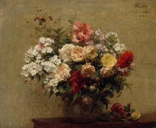 Art Prints of Summer Flowers by Henri Fantin-Latour