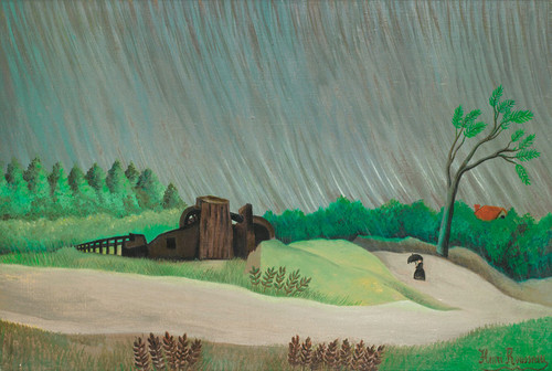 Art Prints of A Rainy Morning by Henri Rousseau