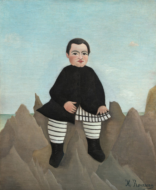 Art Prints of Boy on the Rocks by Henri Rousseau
