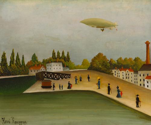 Art Prints of Quai d'Ivry by Henri Rousseau