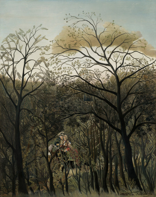 Art Prints of Rendezvous in the Forest by Henri Rousseau