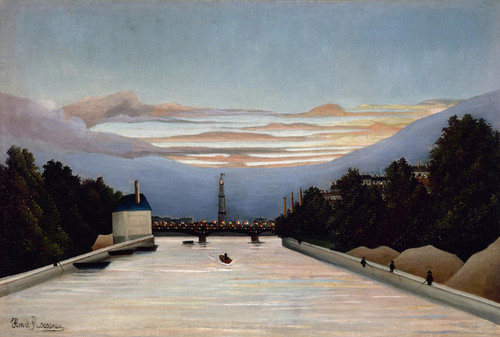Art Prints of The Eiffel Tower by Henri Rousseau