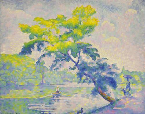 Art Prints of Leaning Tree by Henri-Edmond Cross