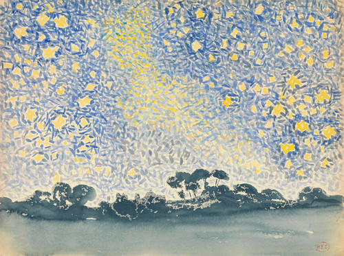 Art Prints of Landscape with Stars by Henri-Edmond Cross