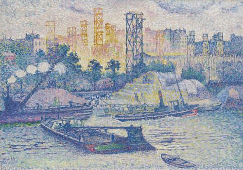 Art Prints of Quay at Passy by Henri-Edmond Cross