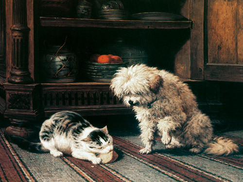 Art Prints of See Who Gets the Cheese by Henriette Ronner Knip