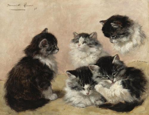 Art Prints of Kittens by Henriette Ronner Knip