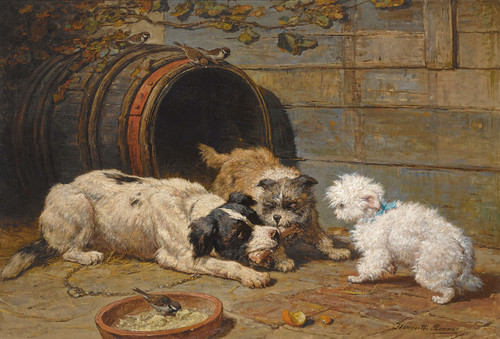 Art Prints of Dog's Meal by Henriette Ronner Knip