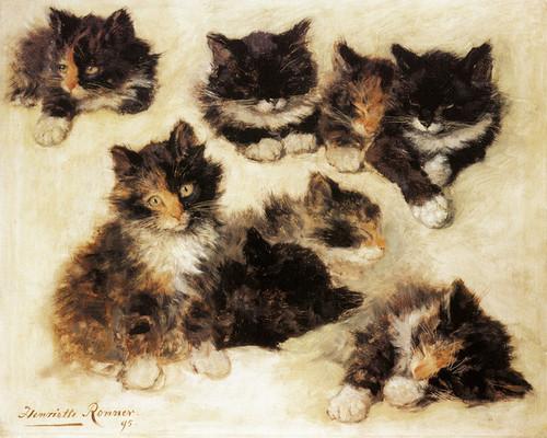 Art Prints of Kittens, 1895 by Henriette Ronner Knip