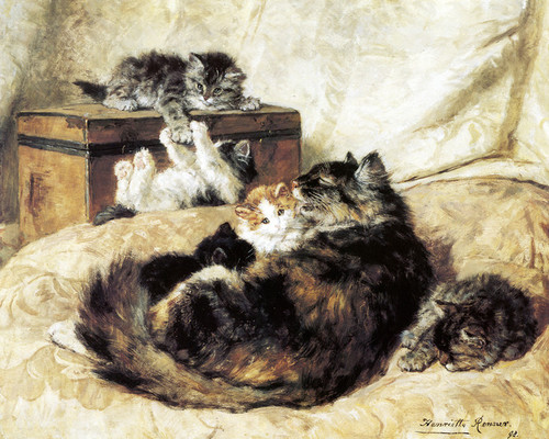 Art Prints of Mothercare by Henriette Ronner Knip