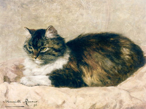 Art Prints of Purring with Content by Henriette Ronner Knip