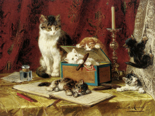 Art Prints of The Cigar Box by Henriette Ronner Knip