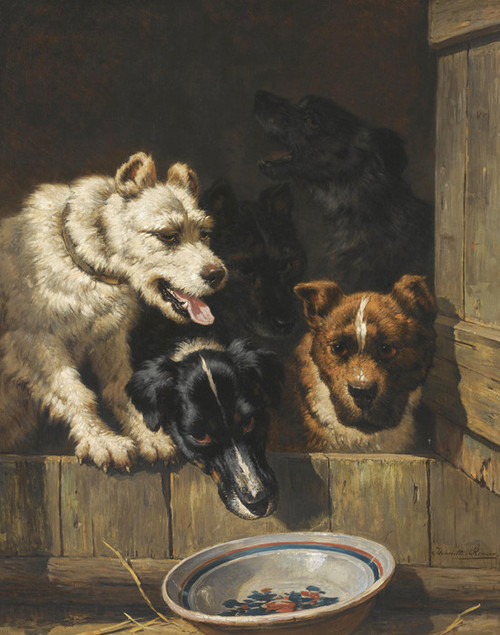 Art Prints of The Empty Bowl by Henriette Ronner Knip