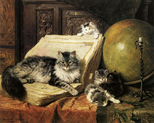 Art Prints of The Dream Trip or World Travelers by Henriette Ronner Knip