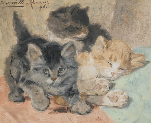 Art Prints of Three Kittens by Henriette Ronner Knip