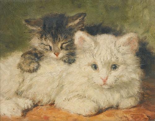 Art Prints of Two Kittens by Henriette Ronner Knip