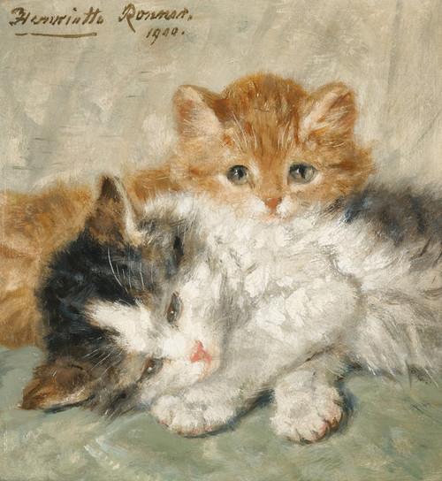 Art Prints of Sleep, Kittens by Henriette Ronner Knip
