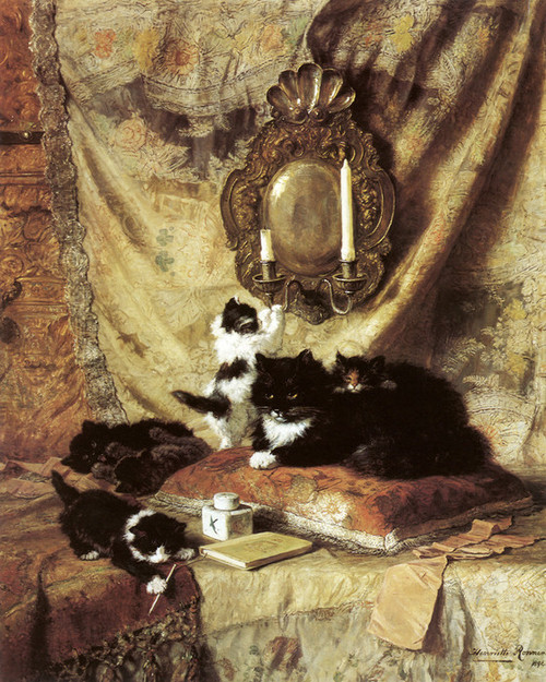 Art Prints of Work, Rest and Play by Henriette Ronner Knip