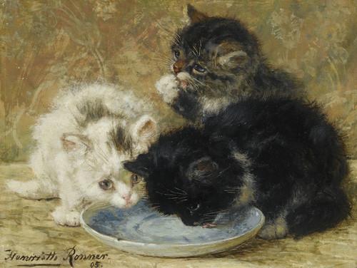 Art Prints of Three Kittens II by Henriette Ronner Knip