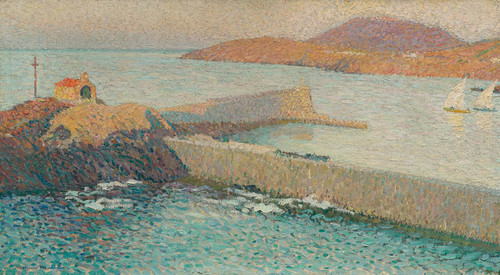 Art Prints of Collioure Chapel on the Dike by Henri-Jean Guillaume Martin