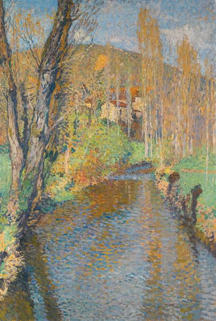 Art Prints of Below Labastide Green Bridge by Henri-Jean Guillaume Martin