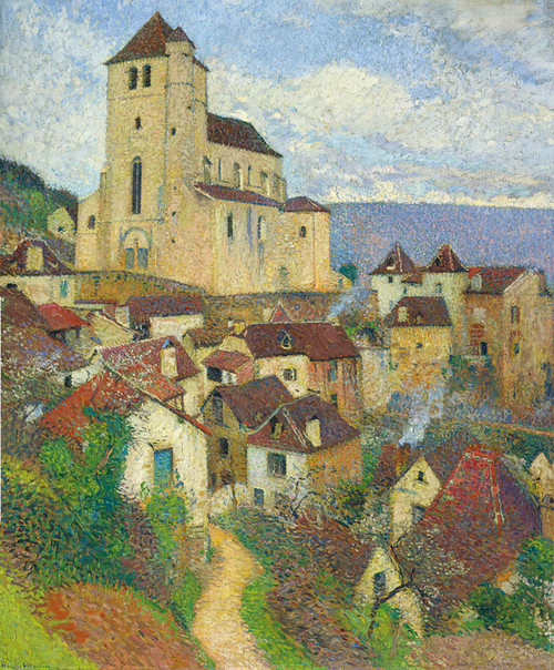 Art Prints of Saint-Cirq-Lapopie by Henri-Jean Guillaume Martin