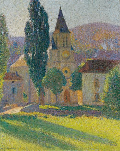 Art Prints of The Church at Labastide green by Henri-Jean Guillaume Martin
