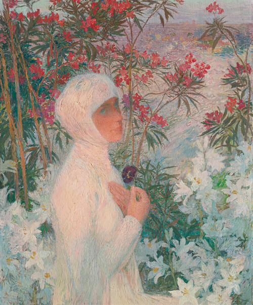 Art Prints of The Mercy Poetess, Isaure by Henri-Jean Guillaume Martin