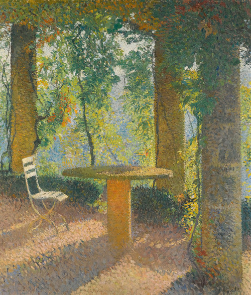 Art Prints of The Summer Arbor by Henri-Jean Guillaume Martin