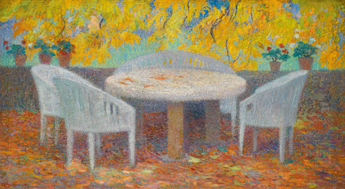 Art Prints of Under the Chestnut Grand Marquayrol by Henri-Jean Guillaume Martin