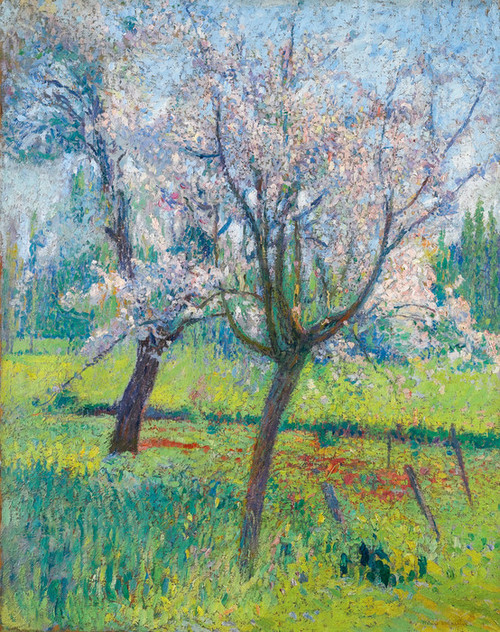 Art Prints of Two Apple Blossom Trees by Henri-Jean Guillaume Martin