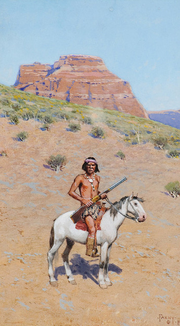 Art Prints of Apache Warrior by Henry Farny