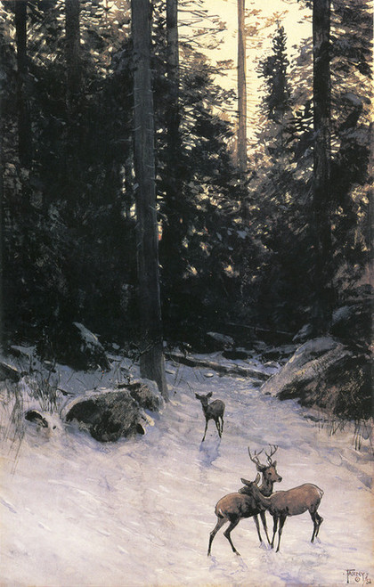 Art Prints of Deer in the Forest by Henry Farny