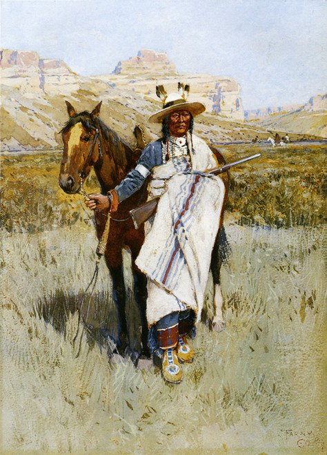 Art Prints of Indian Scout by Henry Farny