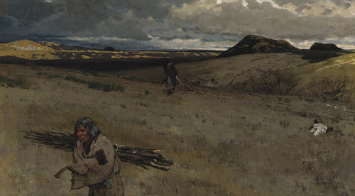 Art Prints of The Toilers of the Plains by Henry Farny