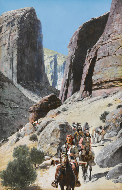 Art Prints of Through the Pass by Henry Farny