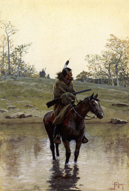 Art Prints of The Ford by Henry Farny