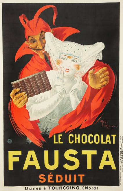 Art Prints of Le Chocolat Fausta Seduit by Henry Monnier
