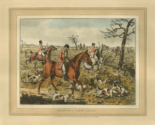 Art Prints of Beating a Grouse Cover by Henry Thomas Alken