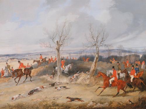 Art Prints of Hunting Scene, in Full Cry by Henry Thomas Alken
