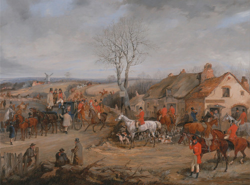 Art Prints of Hunting Scene, the Meet by Henry Thomas Alken